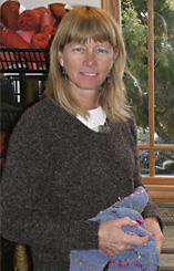 Gretel Underwood in her studio, Santa Fe, New Mexico