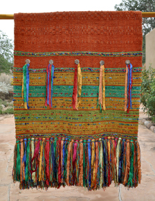 "Chiapas weave with conchas and ribbons in ""Chimu"""