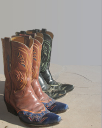 Western boots in Santa Fe, New Mexico