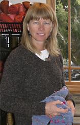 Gretel Underwood in her studio, Santa Fe, New Mexico