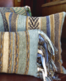 Handwoven Pillows and Accessories by Gretel Underwood