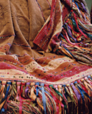 Handwoven throws by Gretel Underwood