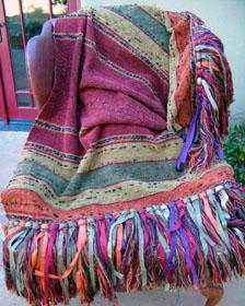 "Chiapas weave throw in ""Catarina"""