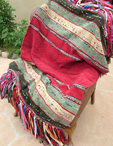 "Chiapas weave throw in ""Muted Amiga"""