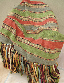 "Bolivian Stripe weave throw in ""Parrot Pillow"""