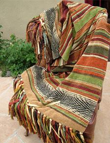 "Serape Stripe weave throw in ""Umbrian"""