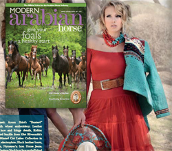 Short Western Cardigan featured in the Spring 2011 issue of Modern Arabian Horse magazine