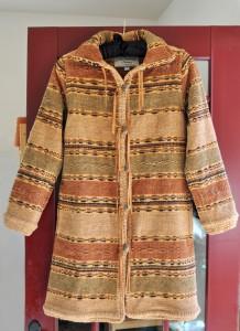 "2012 Western Coat in ""Saddle Mountain"" by Gretel Underwood Handweaving"