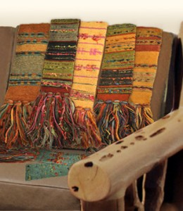 Handwoven, southwestern scarves by Gretel Underwood