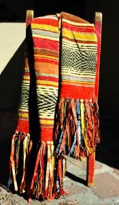 """Serape Stripe Pattern throw in """"Tula"""""""