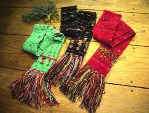 Mardi Gras scarves by Gretel Underwood